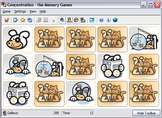 Wag Card Set for Concentration - the Memory Games