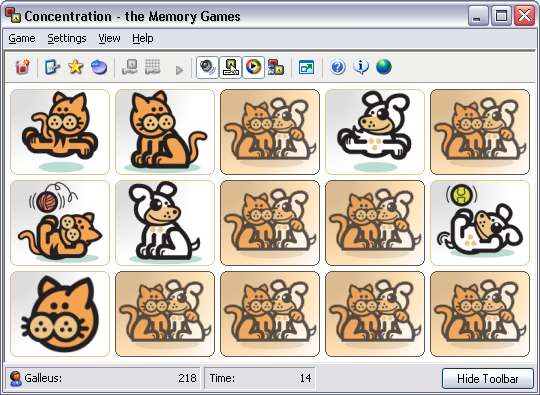 Pounce and Wag Associative Card Sets for Concentration - the Memory Games