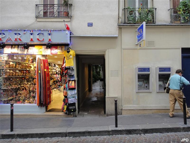 Paris-bise-art : Passage secret rue Mouffetard