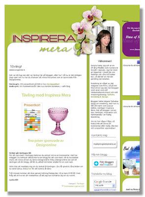 Namnändrad blogg, nu Inspirera Mera