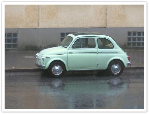 Grön liten bil