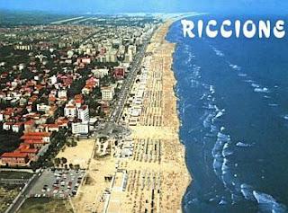 cartolina Riccione Mare