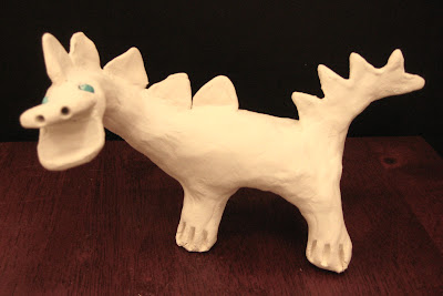 Cute clay dinosaur craft