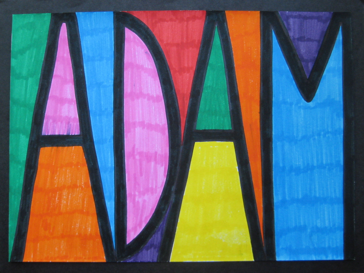 Stained Glass Name Designs Teachkidsart