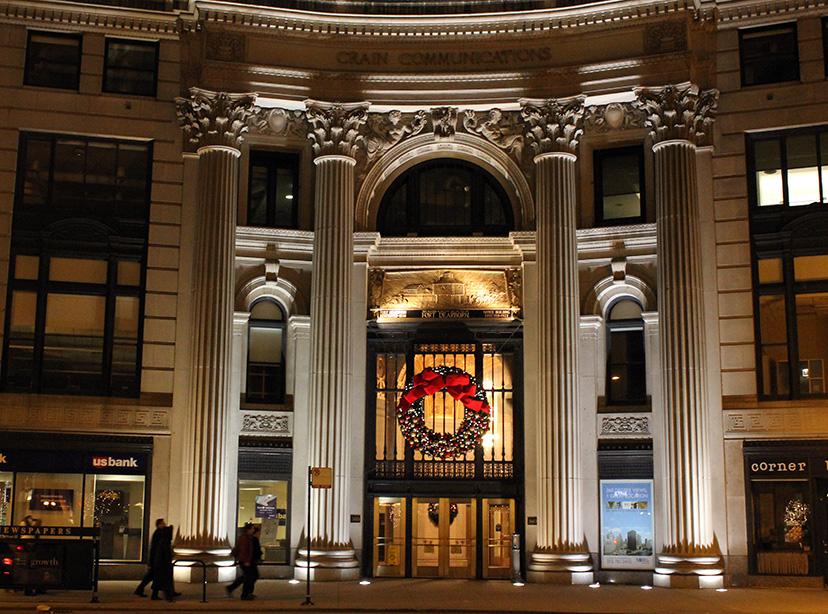 London Guaranty Building, Chicago, Christmas, 2010