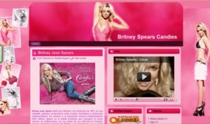 Britney Spears Blogger Template