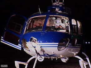 A medical helicopter landed near Forrest City, Arkansas, on Saturday after striking a bird.