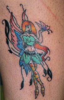 fantasy girl tatto design