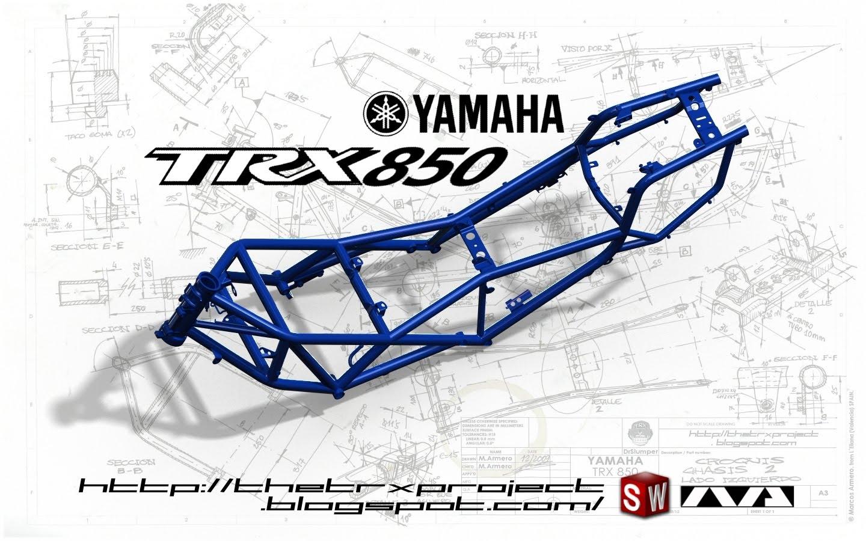The TRX Project. The Yamaha TRX 850 blog: Yamaha TRX 850 frame wallpaper
