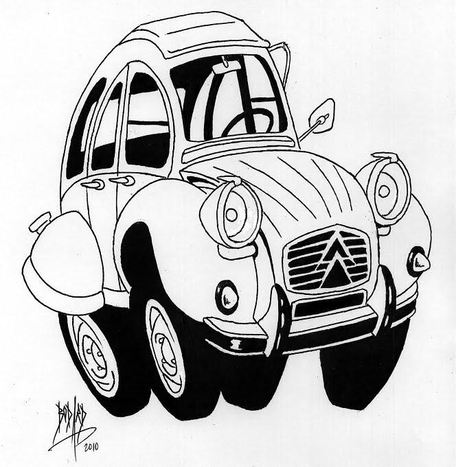 coloriage de voiture tuning