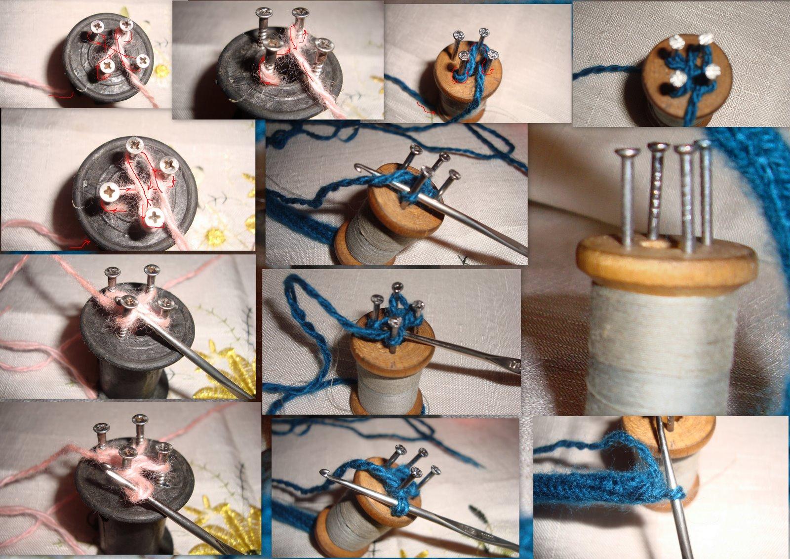 Плетение шнуров из пряжи на вязальной 80