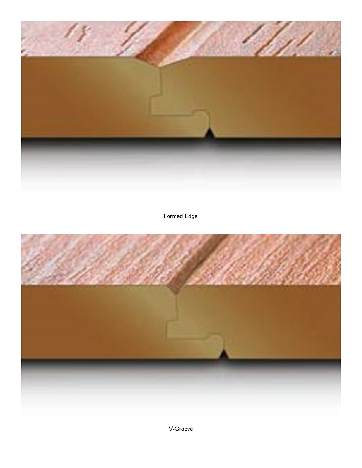 These Premium Surface Finishes Usually Comes With A V Groove Or Formed Edge Bevel When Planks Are Connected Together They Form To Make It