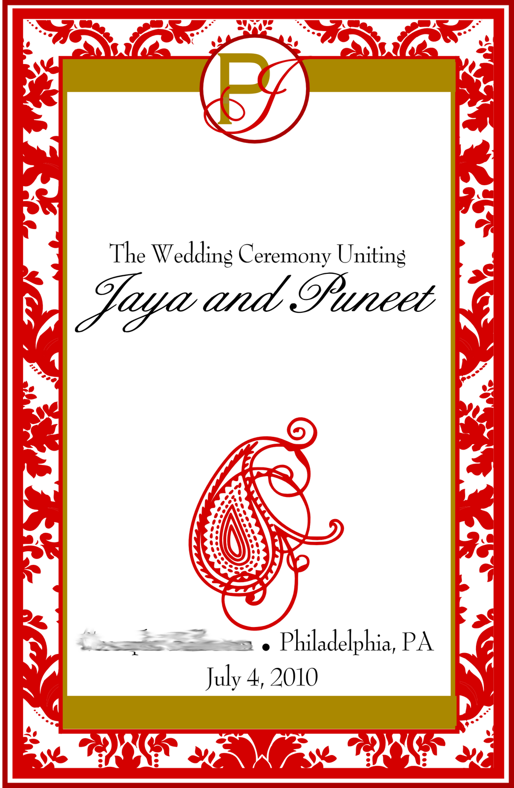 signatures by sarah wedding program covers and favor tags for jaya
