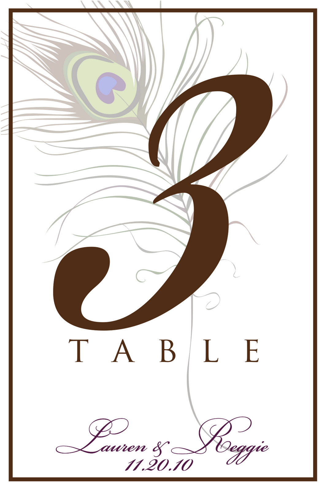 Reserved Table Signs Template Table Number Template Sign