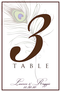Signatures by sarah peacock wedding stationary for debora for Table number design template