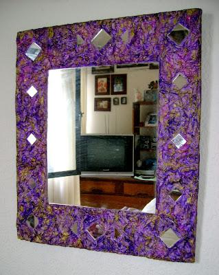 Manos creativas espejo papel mache - Espejo de papel ...
