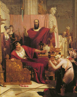 'The sword of Damocles' Richard Westall, 1812