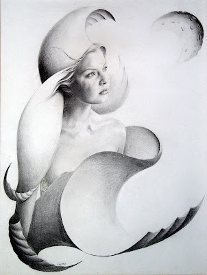'Mujer mirando a la luna' Sandra Pérez