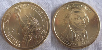 usa presidential dollar john adams