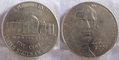 usa monticello thomas jefferson nickel 2008