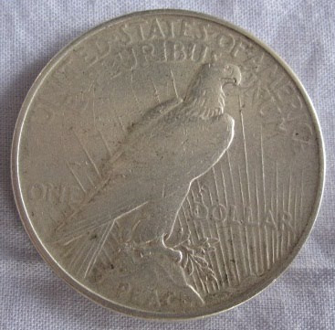 usa peace dollar 1922 eagle