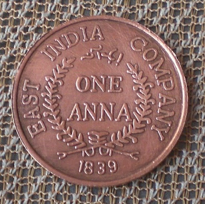 one anna 1839 east india company