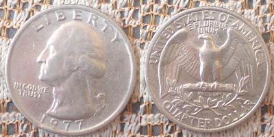 US quarter dollar 1977