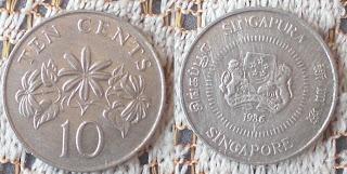 singapore 10 cents 1986