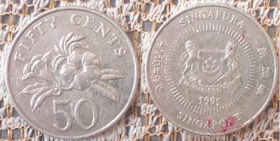 singapore 50 cents 1995