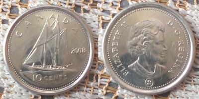 Canada 10 Cent Yacht 2008