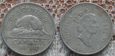 canada 5 cent 1867-1992