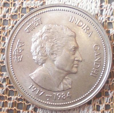 5 rupee indira gandhi