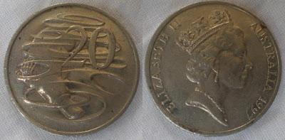 australia 20 cent 1997