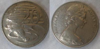 australia 20 cent 1980