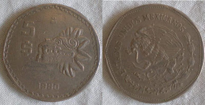 5 peso quetzalcoatl