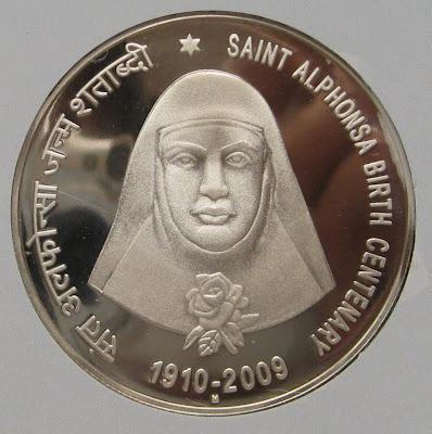 alphonsa 100 rupee proof reverse