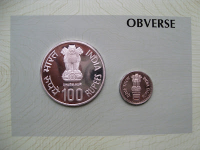 bal gangadhar tilak proof set obverse