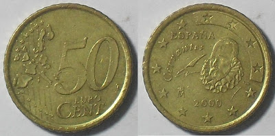 spain euro 50 cent 2000