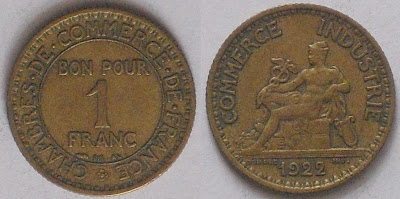 1 franc chamber of commerce 1922