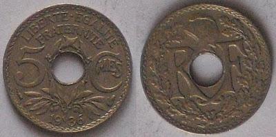 france 5 centime 1936