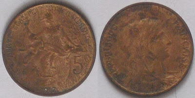 france 5 centimes 1917