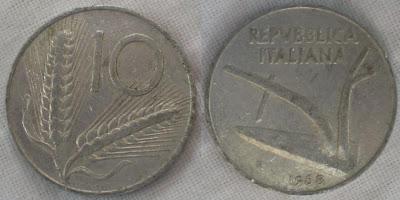 italy 10 lira 1968