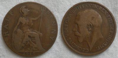 england half penny 1919 george v