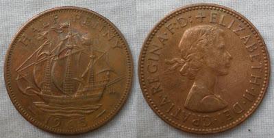england half penny 1965
