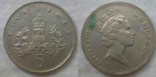 5 pence 1988