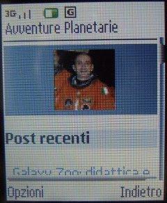 Avventure Planetarie visualizzato dal browser WAP di un cellulare Nokia 6151