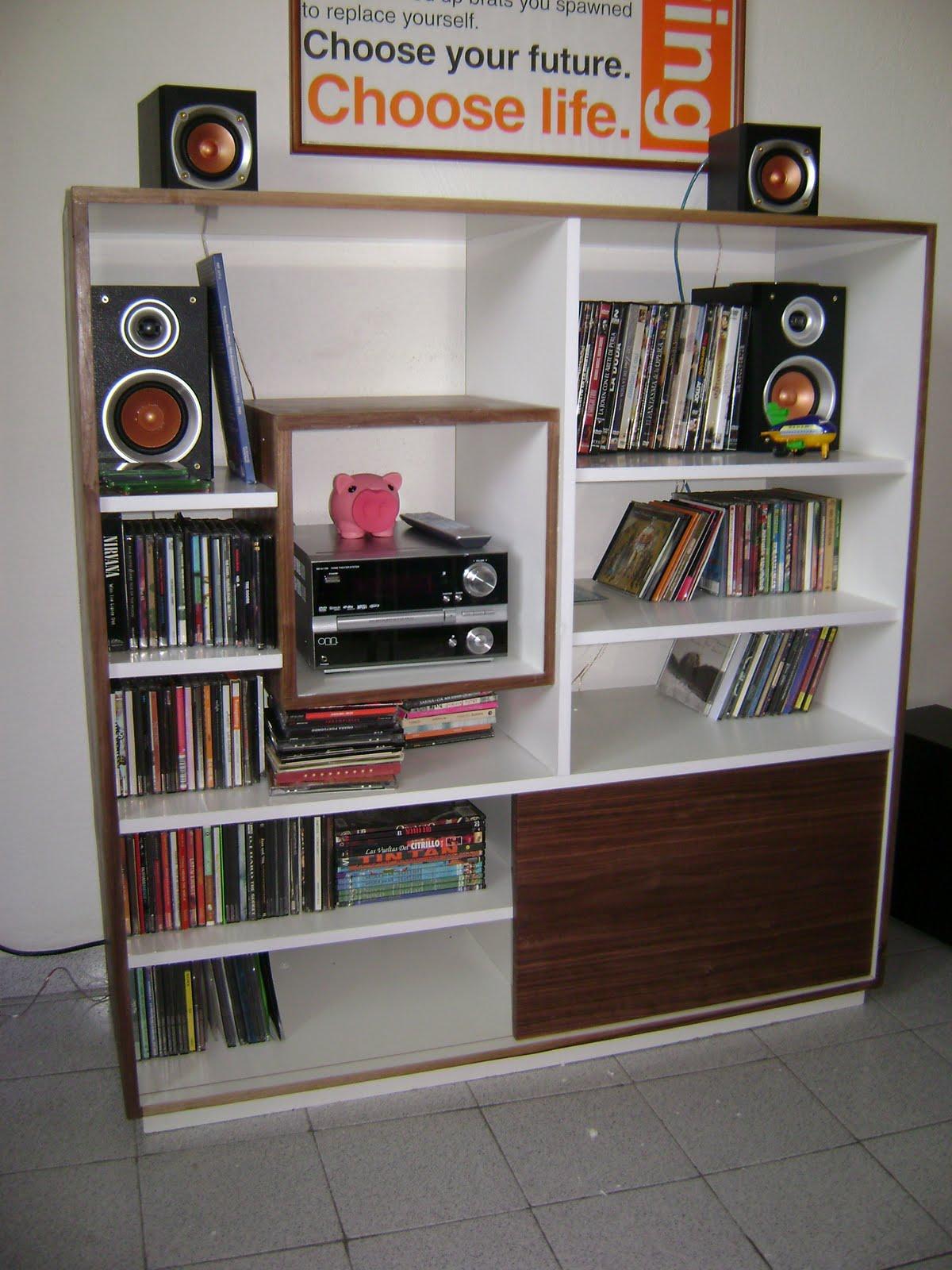 Taller df mueble para equipo de sonido y discos - Muebles para equipos de sonido ...
