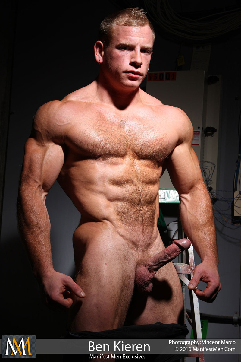 Muscle men: Ben Kieren Hairy Hard Cock Muscle Stud.