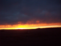 high desert sunset