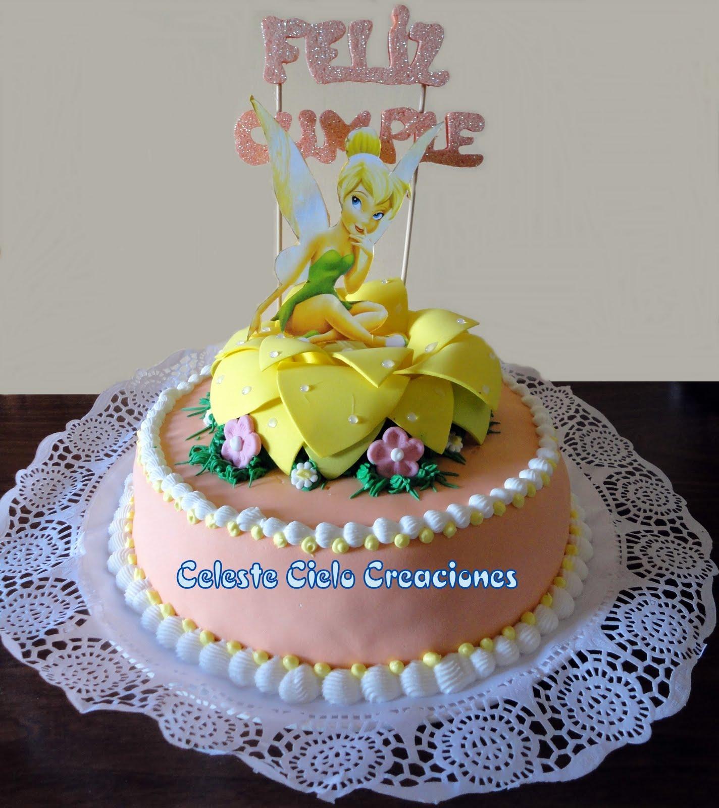 Celeste Cielo Creaciones: Tortas decoradas: Campanita / Tinkerbell